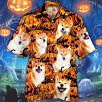 Shiba Inu Dog Lovers Halloween Pumpkin Hawaiian Shirt
