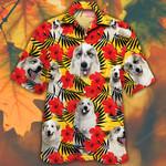 Great Pyrenees Dog Lovers Hibiscus Flower Hawaiian Shirt