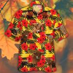 Highland Cattle Lovers Hibiscus Flower Hawaiian Shirt