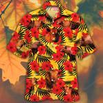Red Angus Cattle Lovers Hibiscus Flower Hawaiian Shirt