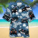 Police Cars Blue Tribal Pattern Hawaiian Shirt
