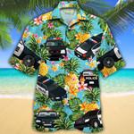 Police Cars Pineapple Hawaiian Shirt