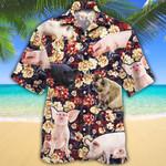 Pig Lovers Red Plaid Pattern Hawaiian Shirt