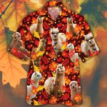 Alpaca Lovers Autumn Red Leaves Hawaiian Shirt