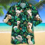 Alpaca Lovers Tropical Leaves Hawaiian Shirt