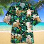 Sheep Lovers Tropical Leaves Hawaiian Shirt
