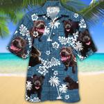 David Paul Carruthers Custom Blue Tribal Pattern Hawaiian Shirt