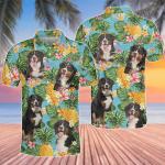 Bernese Mountain Dog Lovers Pineapple Polo Shirt