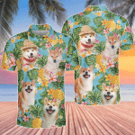 Shiba Inu Dog Lovers Pineapple Polo Shirt