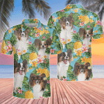 Papillon Dog Lovers Pineapple Polo Shirt