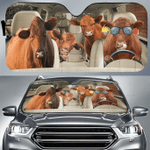 """Red Angus Cattle Lovers Funny Car Auto Sunshade 57"""" x 27.5"""""""