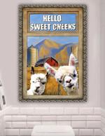 Alpaca Lovers Hello Sweet Cheeks Poster