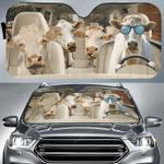 "Charolais Cattle Lovers Funny Car Auto Sunshade 57"" x 27.5"""