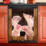 Pig Lovers Wooden Art Dishwasher Cover