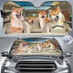 "Shiba Inu Dog Lovers Funny Car Auto Sunshade 57"" x 27.5"""