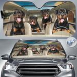 "Rottweiler Dog Lovers Funny Car Auto Sunshade 57"" x 27.5"""