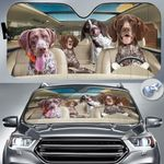 """German Shorthaired Pointer Dog Lovers Funny Car Auto Sunshade 57"""" x 27.5"""""""