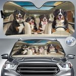 "Bernese Mountain Dog Lovers Funny Car Auto Sunshade 57"" x 27.5"""