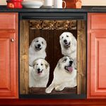 Great Pyrenees Dog Lovers Wooden Art Dishwasher Cover