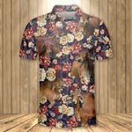 Brahman Cattle Lovers Red Plaid Pattern Polo Shirt