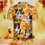 Border Collie Dog Lovers Autumn Orange Nature Polo Shirt