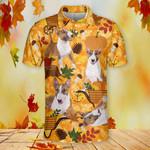 Miniature Bull Terrier Dog Lovers Autumn Orange Nature Polo Shirt