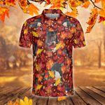 Miniature Bull Terrier Dog Lovers Autumn Red Leaves Polo Shirt