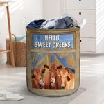 """Red Angus Cattle Lovers Hello Sweet Cheeks Laundry Basket 13.7"""" x 19.3"""""""