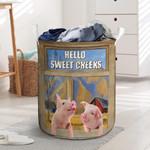 "Pig Lovers Hello Sweet Cheeks Laundry Basket 13.7"" x 19.3"""