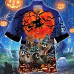 Raccoon Lovers Halloween Night Hawaiian Shirt