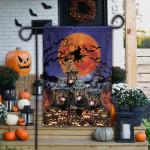 Rottweiler Dog Lovers Halloween Night Garden And House Flag