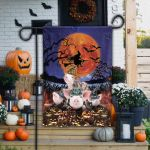 Pig Lovers Halloween Night Garden And House Flag