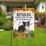 Border Collie Dog Lovers Beware Spoiled Garden And House Flag