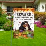 Bernese Mountain Dog Lovers Beware Spoiled Garden And House Flag