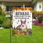 Miniature Bull Terrier Dog Lovers Beware Spoiled Garden And House Flag