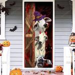 Brahman Cattle Lovers Freaky Halloween Door Cover