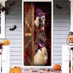 Miniature Horse Lovers Freaky Halloween Door Cover