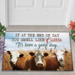 Hereford Cattle Lovers Good Day Doormat