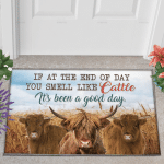 Highland Cattle Lovers Good Day Doormat
