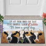Holstein Friesian Cattle Lovers Good Day Doormat