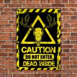 Skull Deer Hunting Lovers Caution Do Not Enter Metal Sign