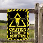TX Longhorn Cattle Lovers Caution Do Not Enter Metal Sign
