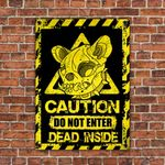 French Bulldog Dog Lovers Caution Do Not Enter Metal Sign