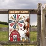 Hereford Cattle Lovers On This Farm Metal Sign