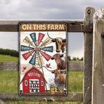 TX Longhorn Cattle Lovers On This Farm Metal Sign
