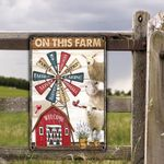 Sheep Lovers On This Farm Metal Sign
