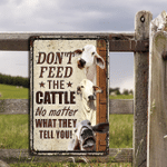 Brahman Cattle Lovers Don't Feed Metal Sign
