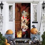 Labrador Retriever Dog Lovers Freaky Halloween Door Cover