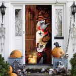 Shiba Inu Dog Lovers Freaky Halloween Door Cover