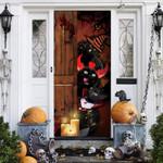 Black Cat Lovers Freaky Halloween Door Cover